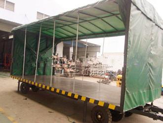 牵引式平板拖车,运输平板拖车, 厂区用平板拖车