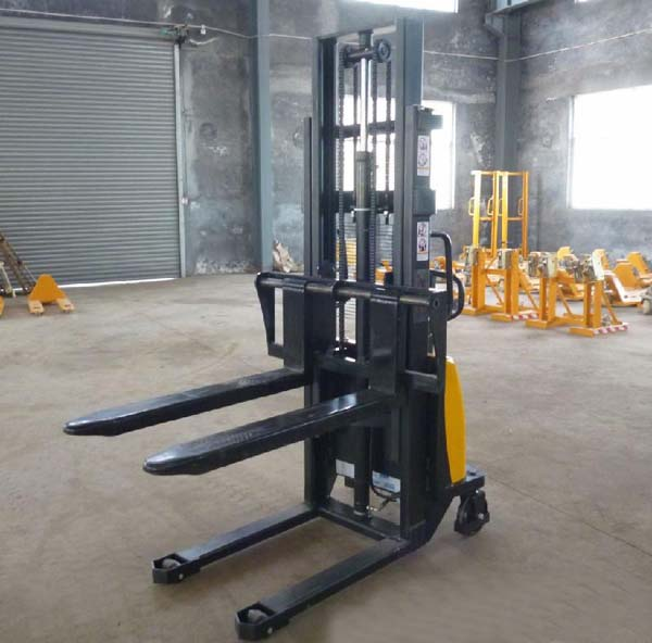 1吨/2吨半电动堆高车升高叉车半自动升高车全电动搬运装卸堆高机