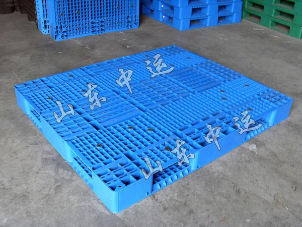 叉车川字网格塑胶栈板九脚卡板仓库防潮垫板地台板1210 塑料托盘