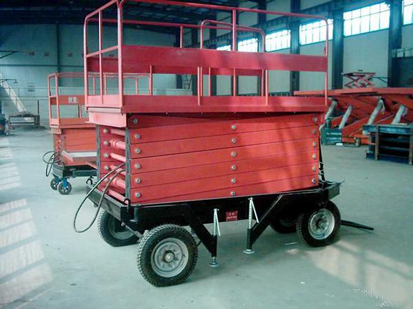 电动液压升降机载重500kg移动式升降平台 定做剪叉高空作业平台车