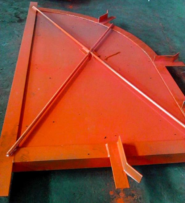 斜风井防爆门产品主要结构