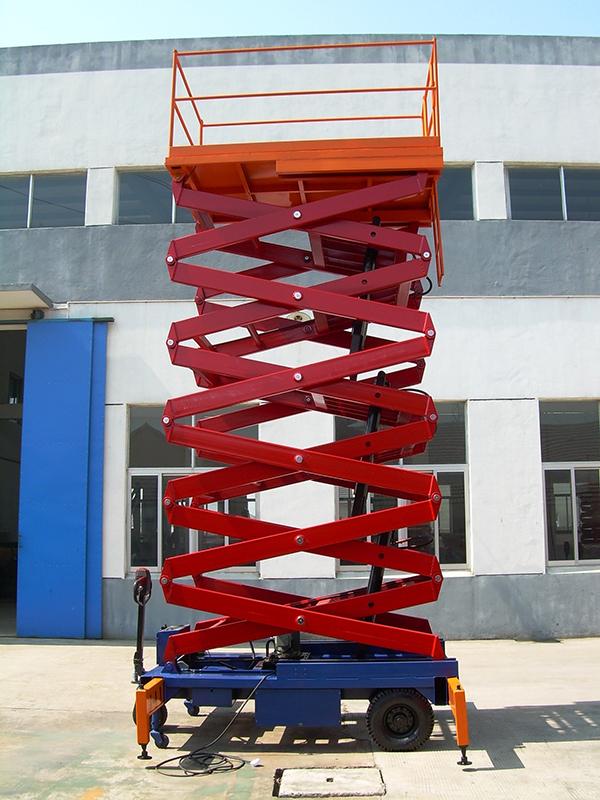 电动液压固定剪叉升降平台 移动升降卸猪台下猪台 电动升降机
