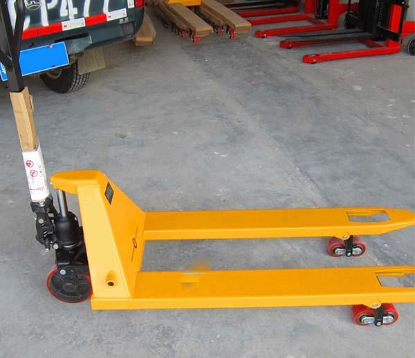 3吨手动液压叉车带电子称重 手推电子秤托盘搬运车特价