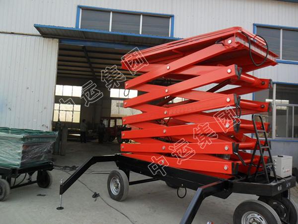 双桅桅柱式升降机 移动式升降电动铝合金液压升降机