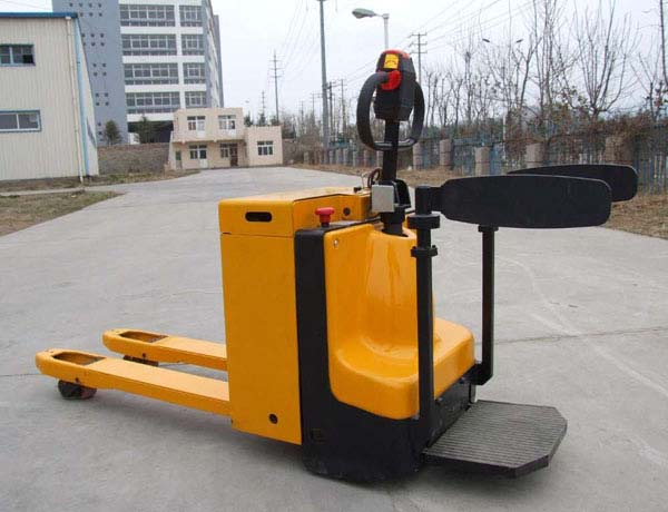 半电动堆高车小型电力电动叉车升高搬运车推高车电动铲车提升机举