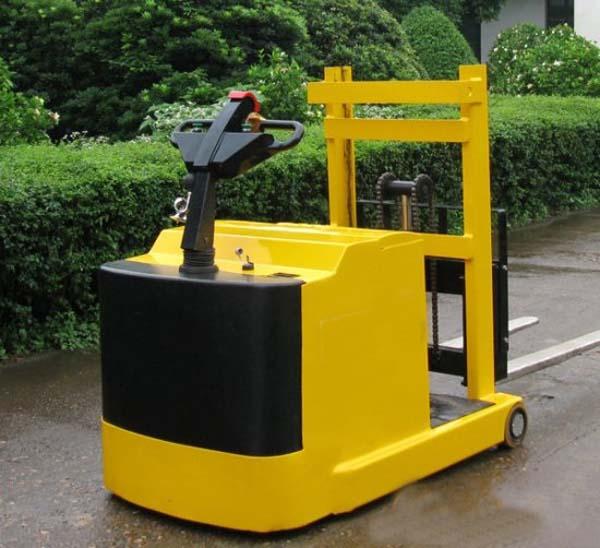 工厂车间半电动液压堆高叉车半自动车仓库装卸搬运铲车支持定制