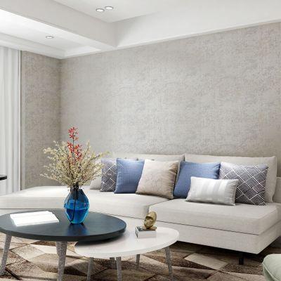 无缝墙布现代简约中式美式蝴蝶暗纹 素色卧室客厅墙纸