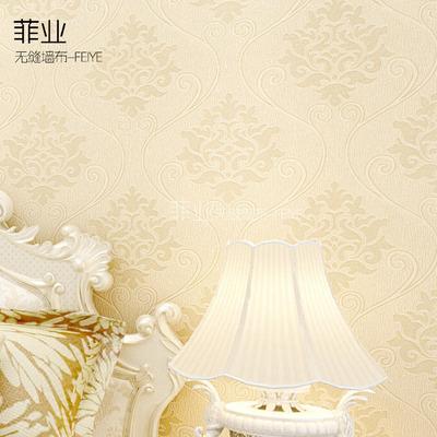 菲业无缝墙布壁布高档卧室客厅 欧式现代简约墙纸热胶