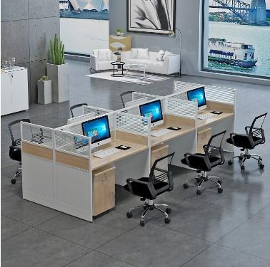 职员办公桌四人位简约现代卡位屏风办公桌六人位椅组合员工办公桌