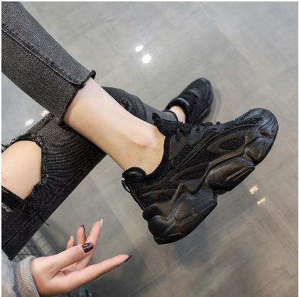 老爹鞋女ins潮加绒2020冬季爆款小白鞋2021新款厚底运动休闲鞋子