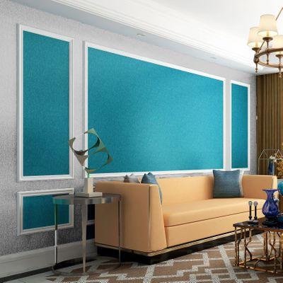 北欧墙布纸素色纯整屋卧室客厅背景 现代简约中式高档热胶壁布
