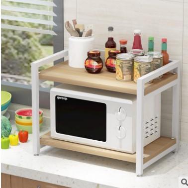 厂家直销微波炉厨房2层烤箱架子双层碗柜多功能置物架