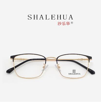 2020韩版金属圆脸仿古大框金色全框架复古眼镜框-38003