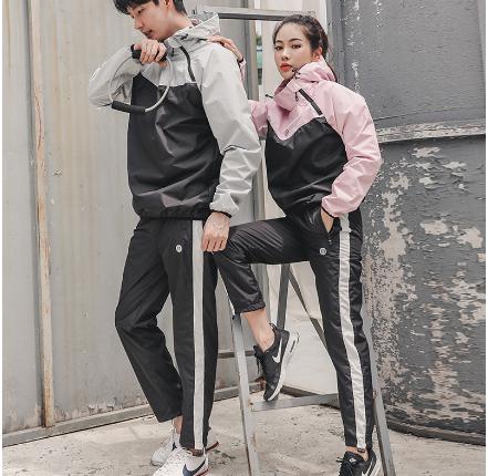 新款健身单长裤跑步运动裤束身瑜伽塑身裤 男女燃脂暴汗裤收腹裤