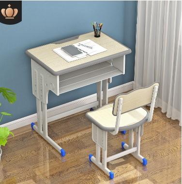 学校教室培训补习辅导班中小学生单双人可升降厂家直销书桌课桌椅