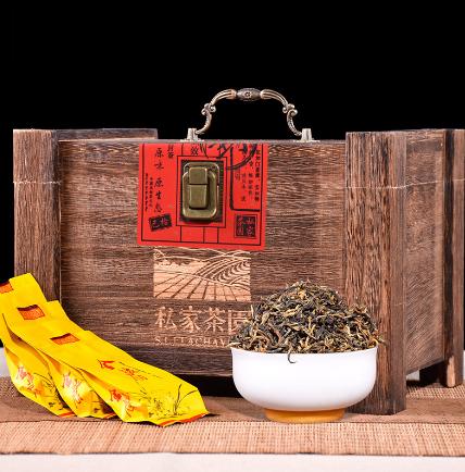 金骏眉木质礼盒装 金骏眉红茶330g蜜香型 私家茶园木盒
