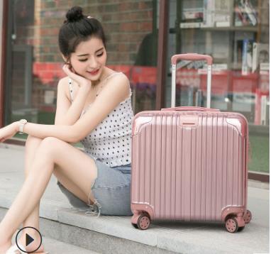 登机箱女18寸网红行李箱小型轻便拉杆箱定制20密码旅行箱男小清新