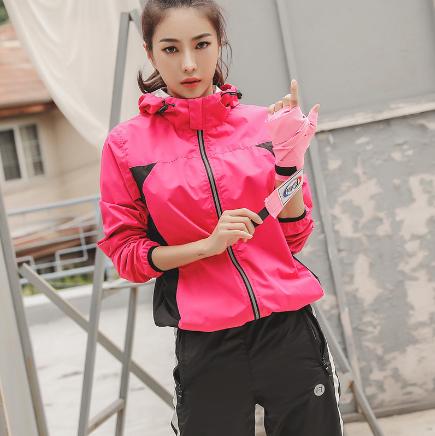 韩国运动服女套装健身房爆汗服女套装健身排汗服上衣长裤两件套