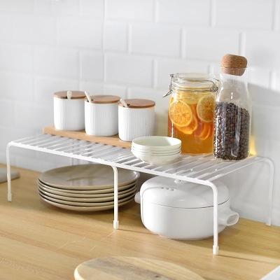 可伸缩厨房置物架铁艺 落地式调料架台面收纳架厨房