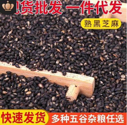 炒熟黑芝麻批发 熟黑芝麻五谷杂粮 磨粉原料豆浆食品用