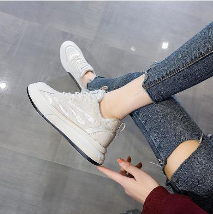 厚底小白鞋女真皮2021春季新款真皮阿甘鞋时尚百搭加绒平底单鞋子