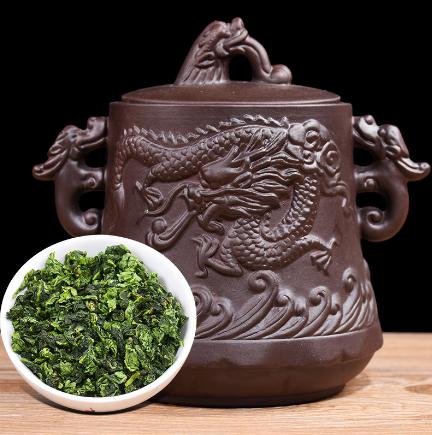 铁观音茶叶立体龙纹紫砂罐 聚天禾清香型高山乌龙茶 一件代发