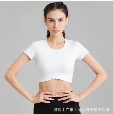 2020春夏新款瑜伽服女 运动健身简约紧身短袖t 跑步速干修身型T恤
