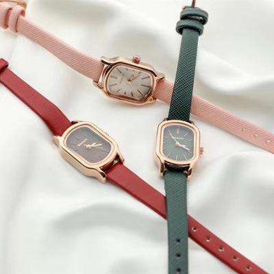 韩国wesure小金手表仙女手表方形 简约气质皮带防水石英小方表