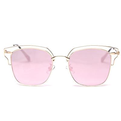 复古度假风沙滩金属太阳眼镜 街拍圆脸方框墨镜