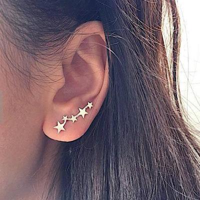 时尚简约新款星型耳环 创意耳骨夹耳夹耳钉女士饰品