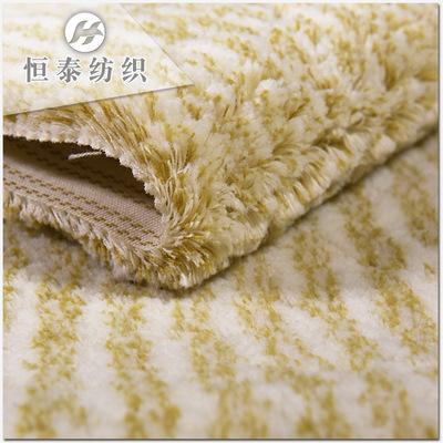 嫩黄底黄条纹锦纶尼龙滚筒刷布料 刷子布