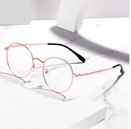 三木眼镜框镜架女圆形复古眼镜架可配镜片超轻近视防蓝光眼镜男