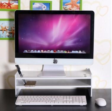 液晶显示器增高架护颈创意桌面键盘收纳架木质台式电脑底座置物架