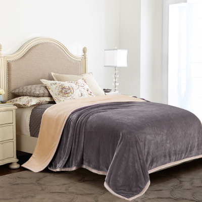 拉舍尔毛毯被子空调毯 加厚珊瑚绒毯子