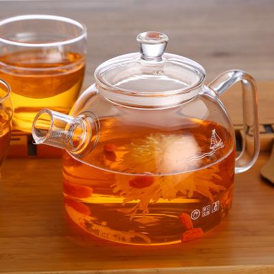 明尚德玻璃茶壶 可加热玻璃壶900ml玻璃水壶煮茶壶