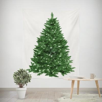 圣诞节圣诞树挂毯 家居装饰来图定制