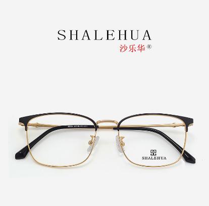 文艺金色复古全框架防蓝光仿古圆脸时尚金属眼镜框