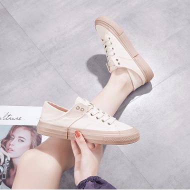 糖果色两穿女生帆布鞋2020夏季新款韩版休闲百搭透气一脚蹬女鞋子