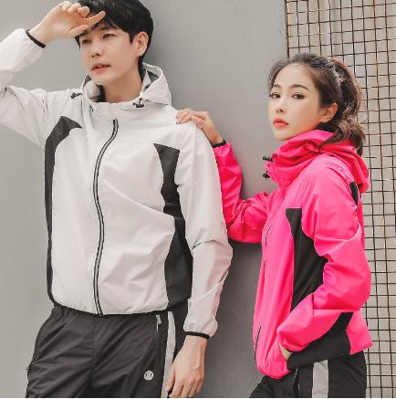 韩衣七新款瑜伽服暴汗长袖外套速干修身运动健身外套跑步健身服