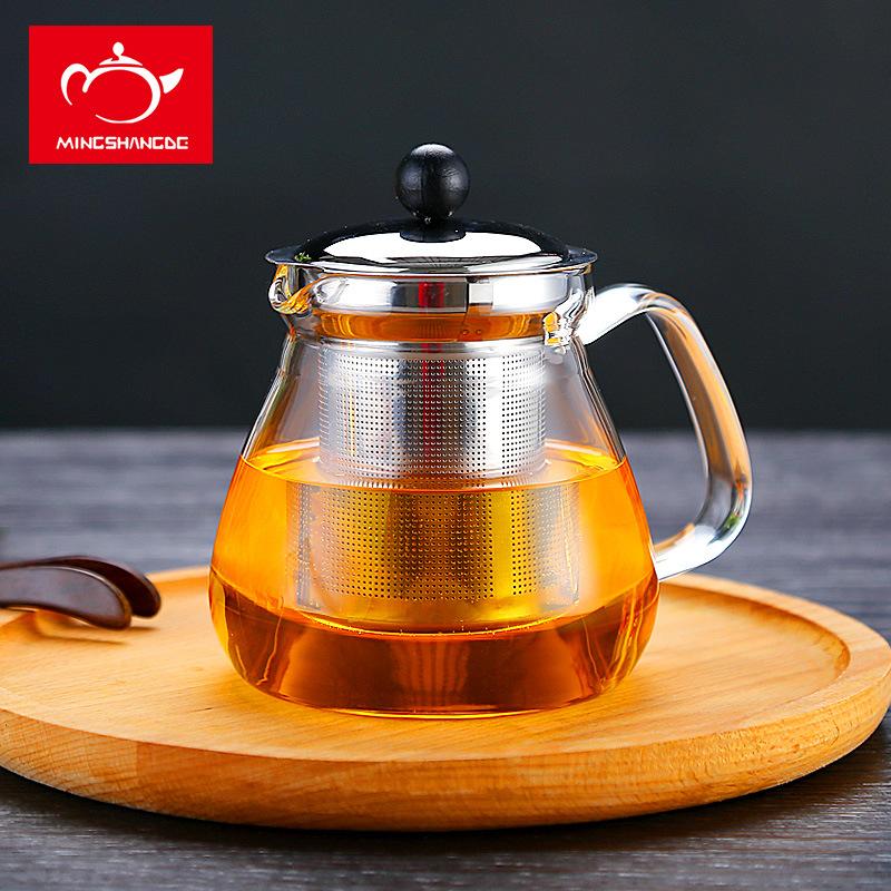 不锈钢茶漏泡茶壶 高硼硅玻璃壶