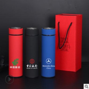 热销不锈钢真空保温杯磨砂商务办公直身杯子定制礼盒包装礼品水杯