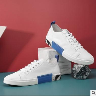 男士休闲时尚板鞋牛皮低帮平跟 时尚系带板鞋潮低帮鞋