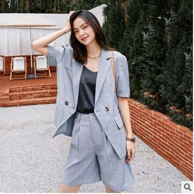 2021夏季新款女装短裤女气质通勤纯色西装短裤韩版时尚裤子女代货