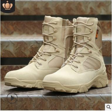 作战靴厂家直销三角洲高帮作战靴战术靴登山鞋户外沙漠靴一件代发