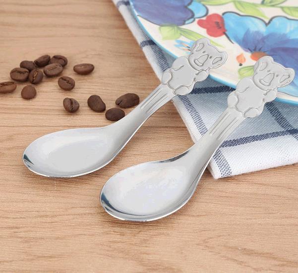 卡通儿童餐具不锈钢儿童调羹汤勺 吃饭小勺子 一元店日用百货