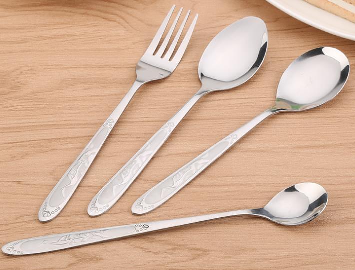 韩式不锈钢西餐餐具 家用厨房不锈钢勺子叉子 咖啡勺礼品套装