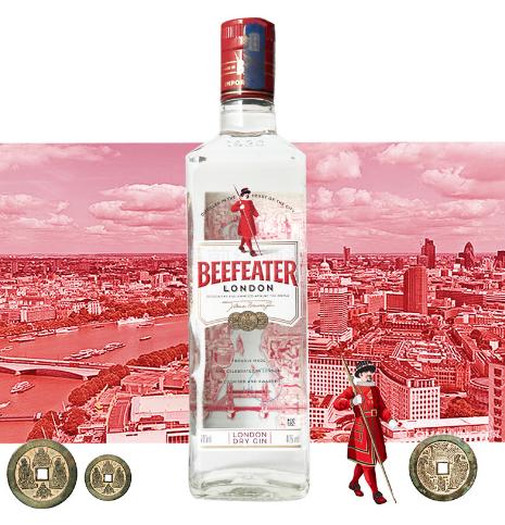 正品行货洋酒必富达金酒BEEFEATERS 将军金酒 正品 杜松子酒