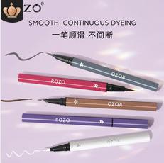 ROZO彩色眼线笔不晕染防水防汗持久速干彩色眼线液笔代发定制批发