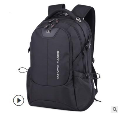 瑞士军刀背包定制logo双肩包男士商务休闲旅游电脑包初中学生书包