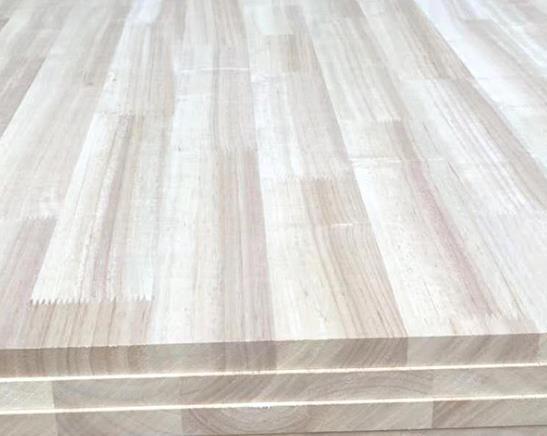 泰国橡胶木指接板AA8mm 家装建材台面板可订制 实木板材